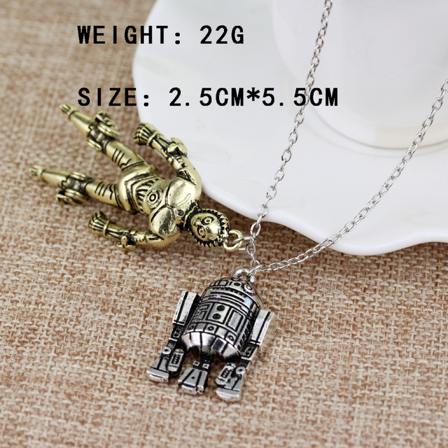 Star Wars R2D2 and C-3PO Robots Necklace