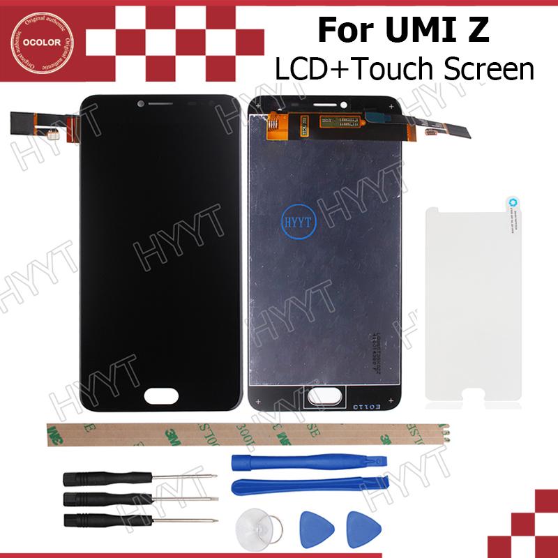 Prix pour Umi Z PRO LCD Affichage et Écran Tactile D'origine Assemblée Réparation Partie 5.5 pouce Mobile Accessoires Pour Umi z + outils + Adhésif + Film