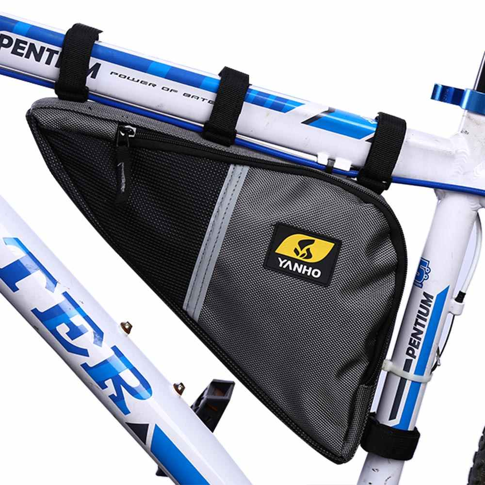YA130 Bike Front Frame Top Tube Front Triangle Saddle Bag Pouch Pannier ZX