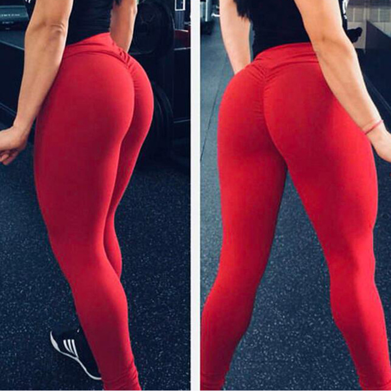 Ultra Stretchy Women Fitness Yoga Pants Running Jogging Outdoor Gym Workout Sports Tights High Waist Leggings Female Trousers in Yoga Pants from Sports Entertainment