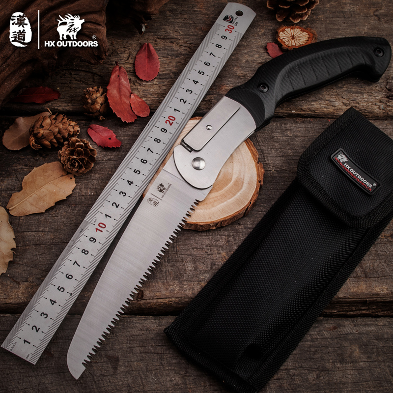 HX OUTDOORS Portable Multi saw tools folded style hardcamping Survival Gear Pocket knife saw hand saw gardening hand tools ...