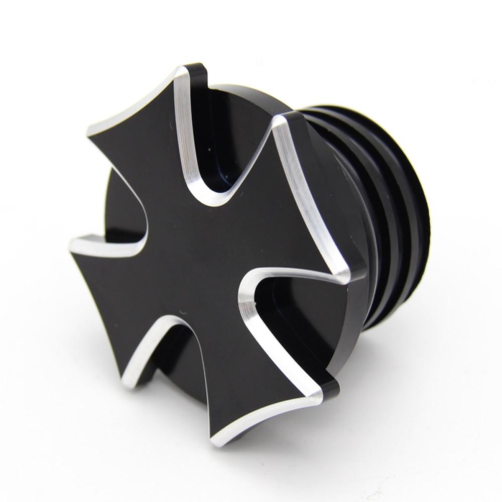 Black Skeleton Middle Finger CNC Aluminum Fuel Gas Tank Oil Cap For Harley Davidson Sportster XL 1200 883 X48 Dyna