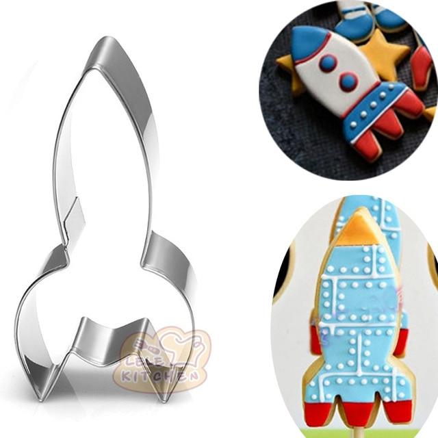 Rakete Metall Cookie Cutter Dekoration Gateau Reposteria Moldes Para