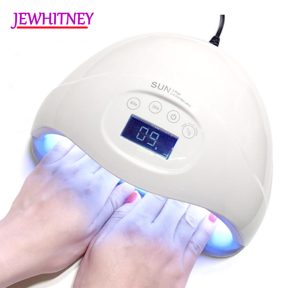 Jewhiteny 48W 24 LEDs UV Lamp LED Nail Lamp Nail Dryer For Nail Gels Polish Two Hand Lamp With 15/30/60s Timer Infrared Sensing