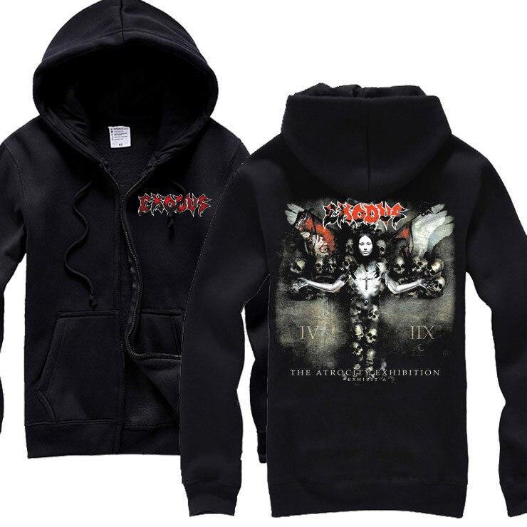 15 видов ужасный Exodus sudadera рок хлопок толстовки оболочка куртка панк рокерский спортивный костюм тяжелая металлическая брэндовая одежда, спортивные футболки - Цвет: 1