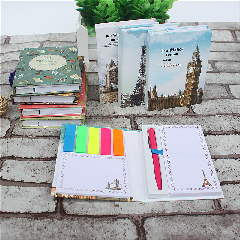 1PCS New Creative Kawaii Mini Memo Pad Set  With Ballpoint Pen Notepad Give Their Children The Best Learning Stationery 2styles