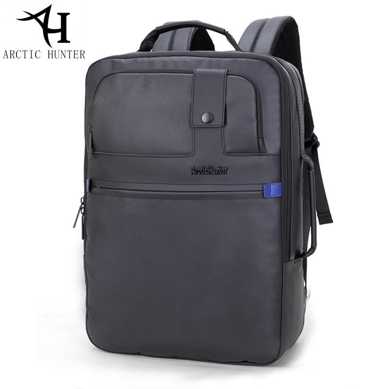 ARCTIC HUNTER High quality waterproof backpack men long 17 inches Business travel  back pack Black Backpacks b1de3dfb470c2