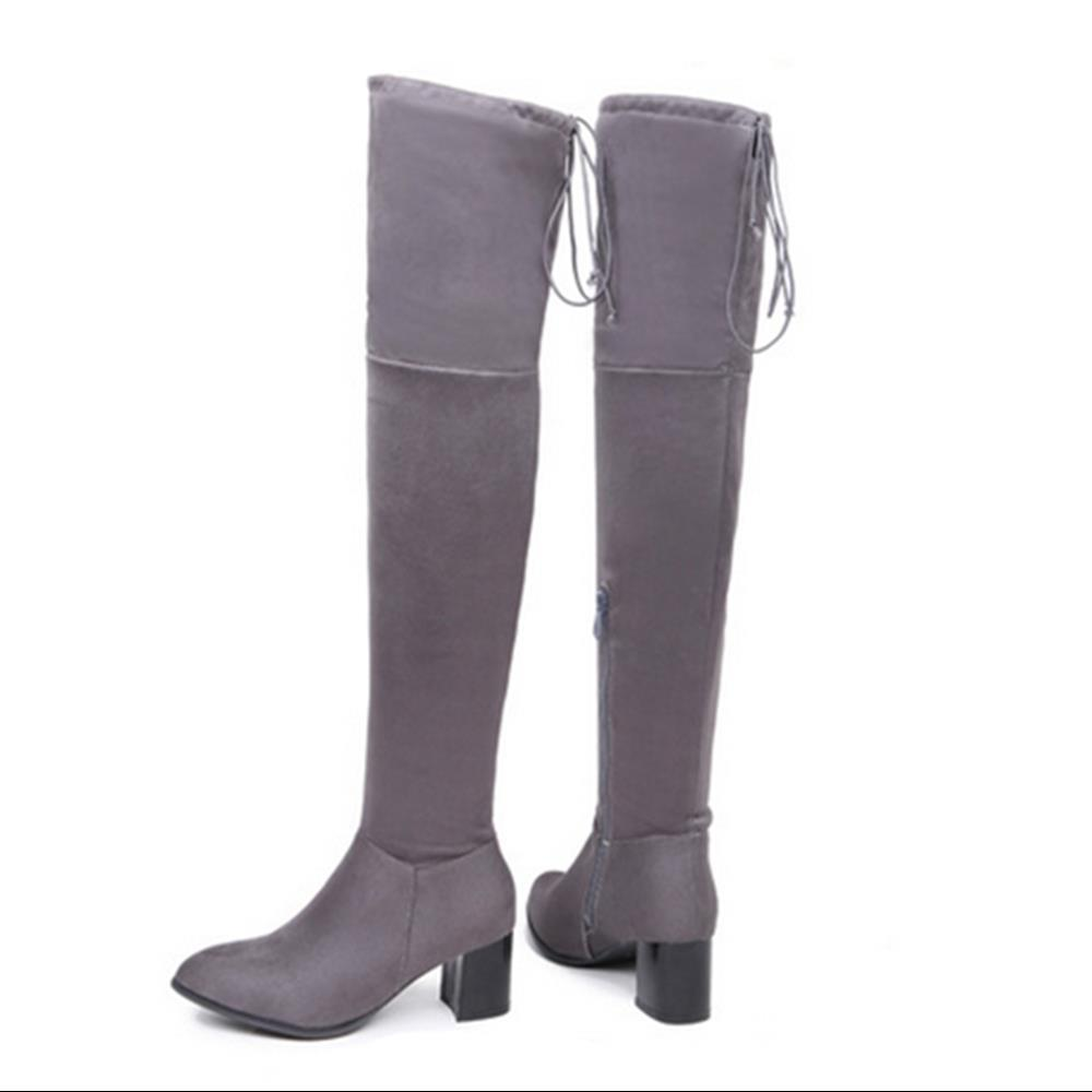 gray high boots