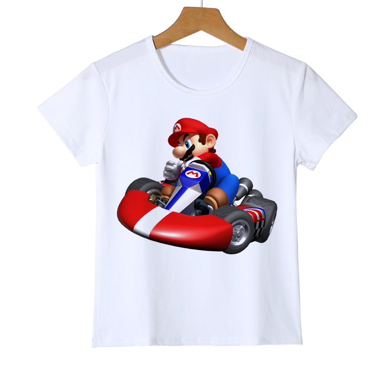 2PCS Super Mario Bros T-shirt Wario Mushroom toad Kids Boys Tops Tee Sport Pants