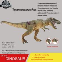 Hot toys figure  brownWalking Tyrannosaurus Rex Simulation model Jurassic park dinosaur action figure Souptoys