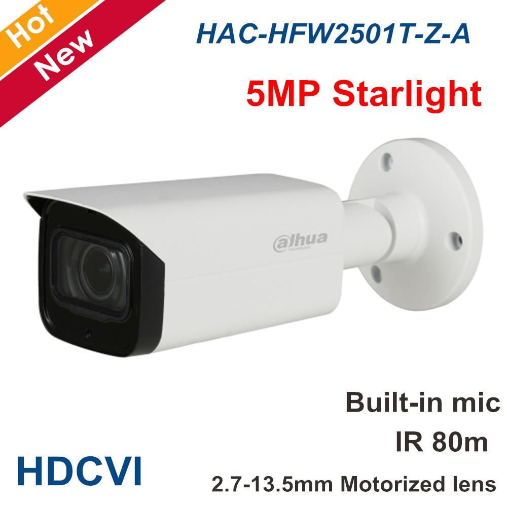 Dahua 5MP Security Camera HAC-HFW2501T-Z-A 2.7-13.5mm Motorized Lens HDCVI Camera Audio In Built-in Mic Outdoor CCTV Camera