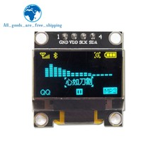 "0.96 inch IIC Serial White OLED Display Module 128X64 I2C SSD1306 12864 LCD Screen Board GND VCC SCL SDA 0.96"" for Arduino Black(China)"