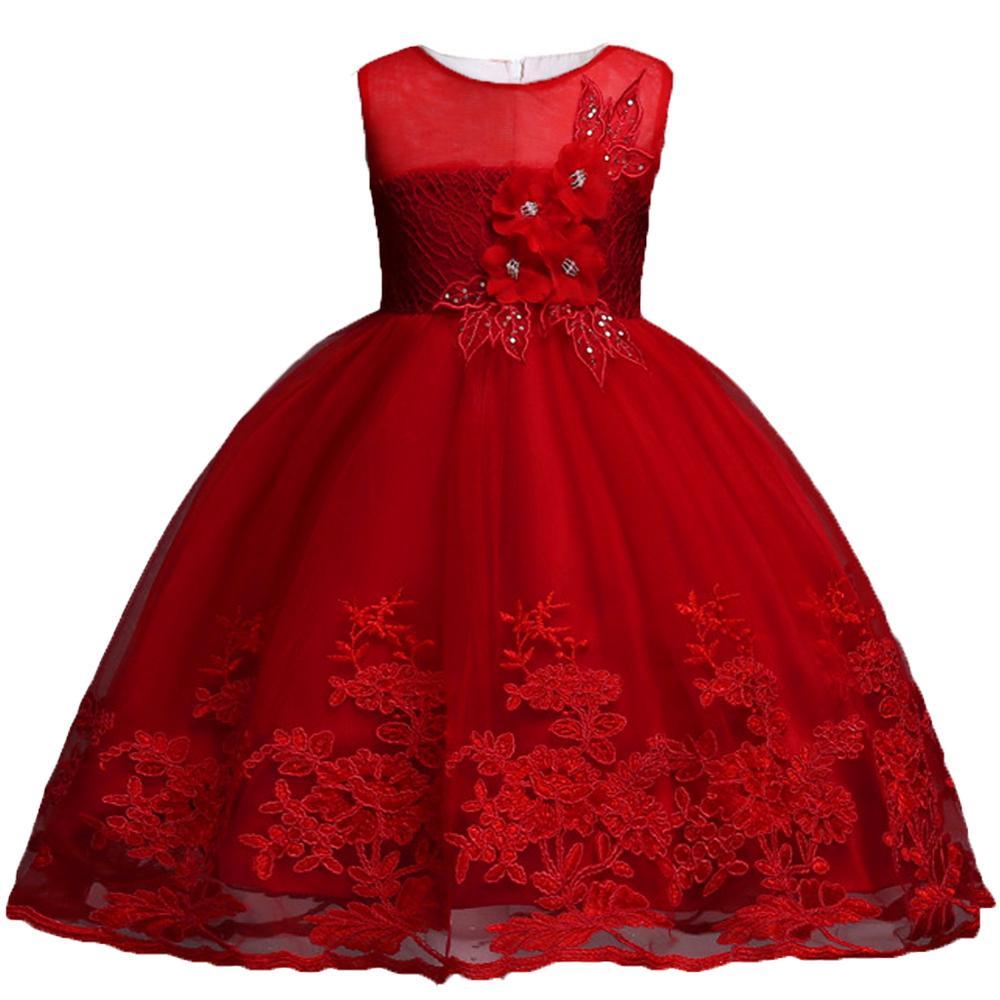 Children Clothing Girls Princess Christmas Kids Dresses For Baby Girls Infant Kids Flower Wedding Party Verstidos Dress Clothes 3