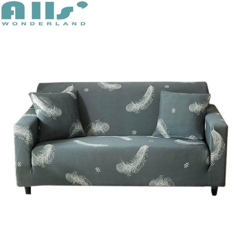 Grau Feder L Form Modernes Sofa Hussen Schnittsofabezug Müssen
