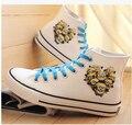 2015 Новые Популярные Гадкий я Обувь Лето Женщины Холст Эспадрильи Квартиры Высокие Ботинки Botas Femininas Повседневная Мокасины