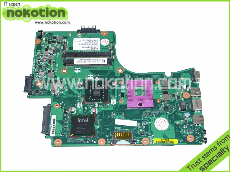 NOKOTION V000225080 1310A2368302 laptop motherboard For toshiba Satellite C665 DDR2 GL40 Mainboard nokotion laptop motherboard for toshiba satellite a300 a300d v000125610 intel gm965 integrated gma 4500mhd ddr2