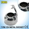 Tirol 7-pin enchufe del remolque de servicio pesado 7-pole toma de clavija redonda 12 v enganche de remolque socket n tipo de vehículo final t10159b