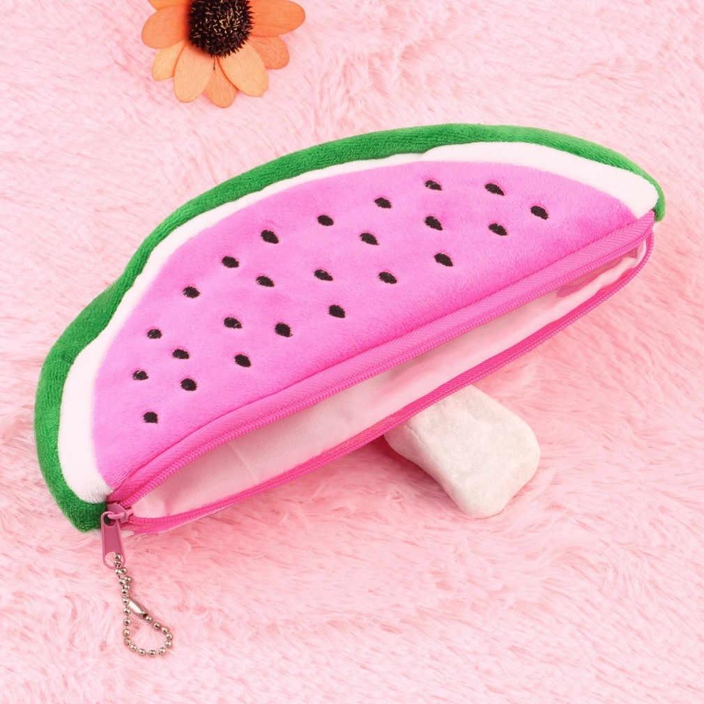 חמוד פירות אבטיח בפלאש קלמר תיק קוסמטי עט תיבת עבור בנות מתנת מכתבים פאוץ בית ספר ציוד משרדי