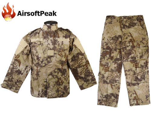 ФОТО Men's Ghillie Suit Zipper Cotton Polyester Field Shirt Pant Camouflage Hunting Airsoft Military BDU Combat Tactical Uniform