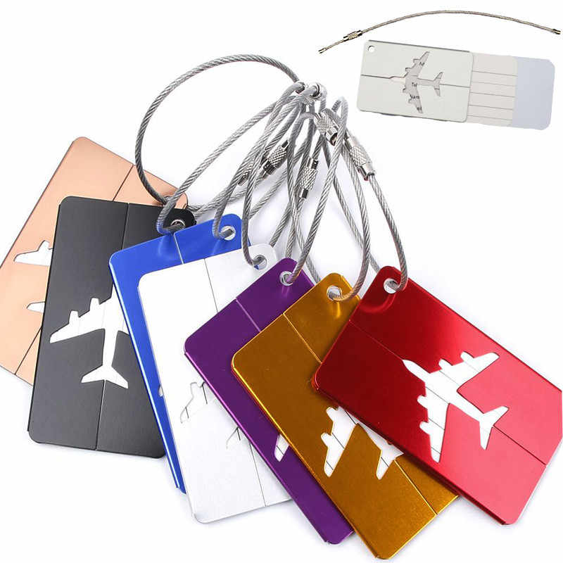 1Pcs Hot Sale Chic Luggage Bags Accessories Durable Aluminium Travel Luggage Label Straps Suitcase Luggage Tags Free Shipping