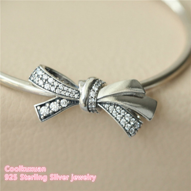 88b965743 2018 Mother's Day Original 925 Sterling Silver Brilliant Bow Charm, Clear  CZ Beads Fit Pandora Charms Bracelet DIY jewelry