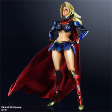Free Shipping Hot Movie PLAY ARTS KAI The Superwoman PVC Action Figure Statue Doll Toy Model toys For Collection kid gift PA0028
