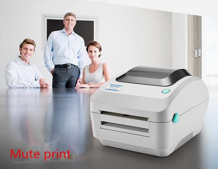 Hot - sensitive electronic surface single printer express bar code E Postal treasure label printer for printing 20-108 mm widh supermarket direct thermal printing label code printer