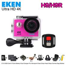 2017 Новый Оригинал ЭКЕН H9R Ultra HD 4 К Спорт Действий Видеокамеры Широкоугольный 2.0 «экран 1080 P 60fps H9 + 2.4 Г Пульт Дистанционного управления камерой