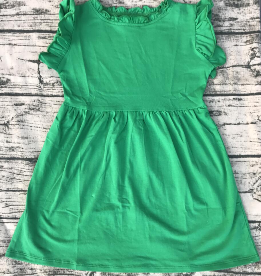 latest style neck ruffle dress cotton girls dress birthday ...