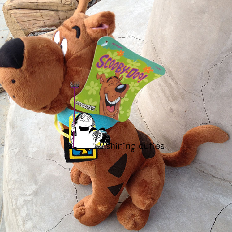 Original USA 35cm Scooby Doo Dog Cute Soft Stuffed Plush Toy Doll Birthday Gift Children Baby Boy Gift 1pcs 22cm fluffy plush toys white eyebrows cute dog doll sucker pendant super soft dogs plush toy boy girl children gift