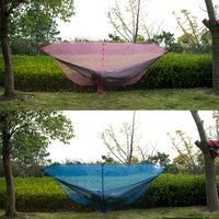 *Balight Hammock Mosquito Net Nylon Insect Prevention Ultralight Portable Zipper Outdoor Camping Accessories Rope Hook Eamping