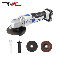 NEWONE 12V Angle Grinder with 2000mAh Lithium Ion M10 Cordless Power Tool Cutting and Grinding Machine Polisher for Home DIY