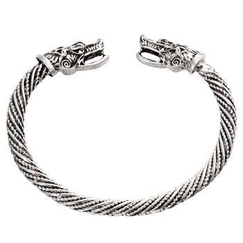 Βραχιόλι Viking στυλ με κεφαλή λύκου Βραχιόλια Κοσμήματα Αξεσουάρ MSOW