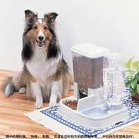Pet Supplies Dog Cat High Capacity Automatic Feeder Pet Water Dispenser Eating Drink Water Two In One Convenient Practical