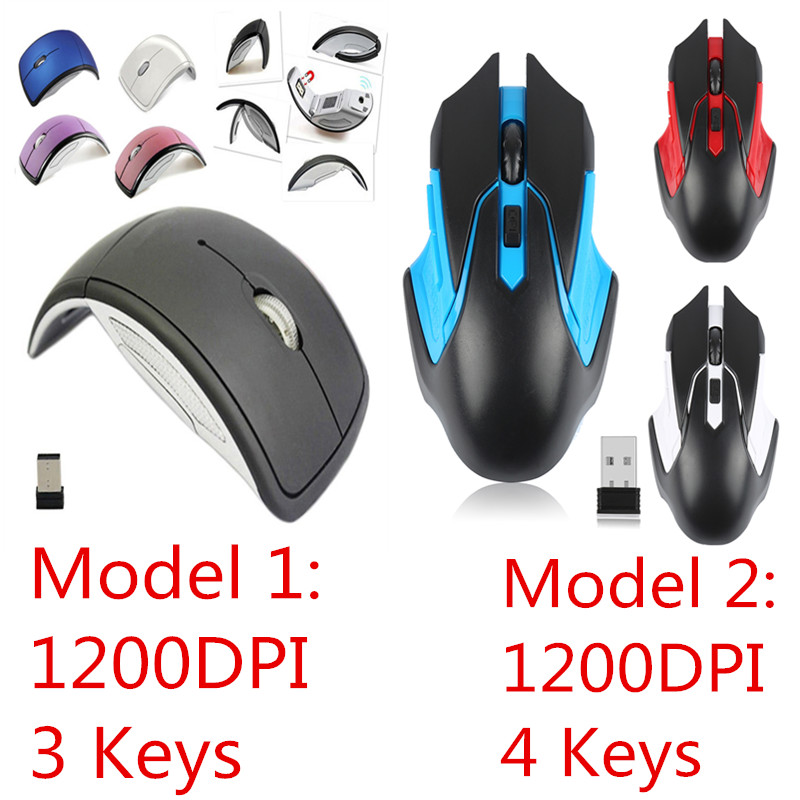 2.4G Wireless Mouse USB 2.0 Receiver Super Slim Mini Cute Optical Wireless Mouse USB Right Scroll Mice For Laptop PC Game Gamer