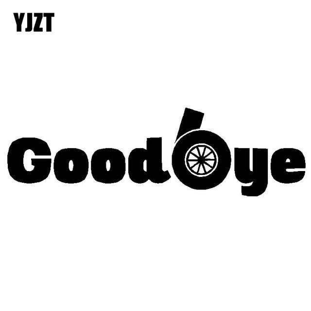 YJZT 15.2 CM * 4.6 CM Adeus Turbo Decalque de Vinil Adesivo de Carro Engraçado Diesel C10-00877 Deriva Preto Prata
