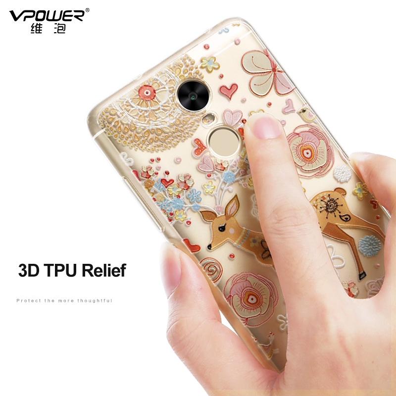 För Xiaomi Redmi Note 4 Fodral 3D Cartoon TPU Bakomslag Vpower För - Reservdelar och tillbehör för mobiltelefoner - Foto 3