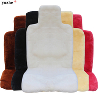 Universal Front & Rear car seat covers faux fur cute car interior accessories cushion styling winter plush car pad seat cover