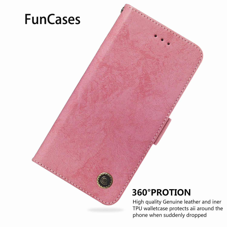 الرجعية بو الجلود الهاتف حقيبة ل اياكس سامسونج S9 المحمول الأعمال المحمول حالة Positivo سفور سامسونج غالاكسي كوكه S9 + زائد حالة