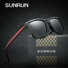 SUNRUN Diseño Cuadrado Marca Polarizadas Gafas de Sol Retro Clásico Gafas Vintage Hombres de Coches de Conducción Gafas Gafas De Sol Oculos P6045