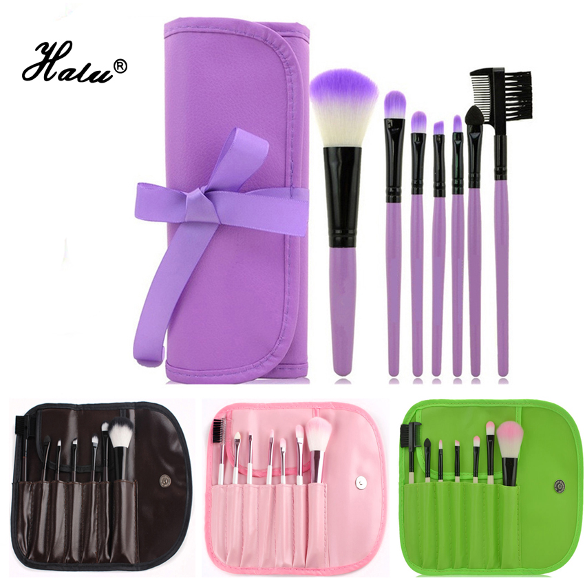 Hot Sale 7/8pcs set Natural Hair Eye Makeup Brushes Set Professional Cosmetic Maquiagem Eyeshadow Contour Brush With Pu Bag косметичка none 20 8 7 cosmetic bag