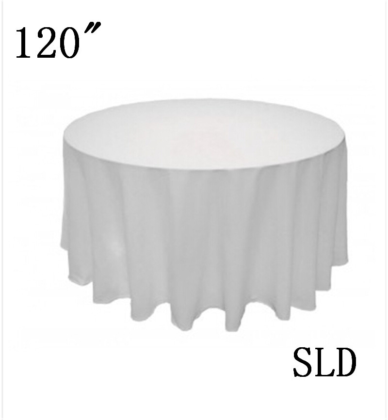 10piece Table Cloth Christmas 100% Polyester 120u0027u0027 Round Linen Tablecloths  Free Shipping From