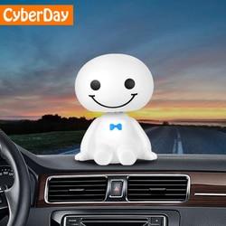 Автомобиль орнамент милые качая головой робот Baymax кукла автомобильных украшения авто Интерьер приборной панели игрушки с покачивающейся г...