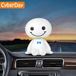 Бамбуковый древесный уголь автомобильный орнамент милые качающиеся головы робот Baymax куклы Автомобильные авто Интерьер приборной панели с ...