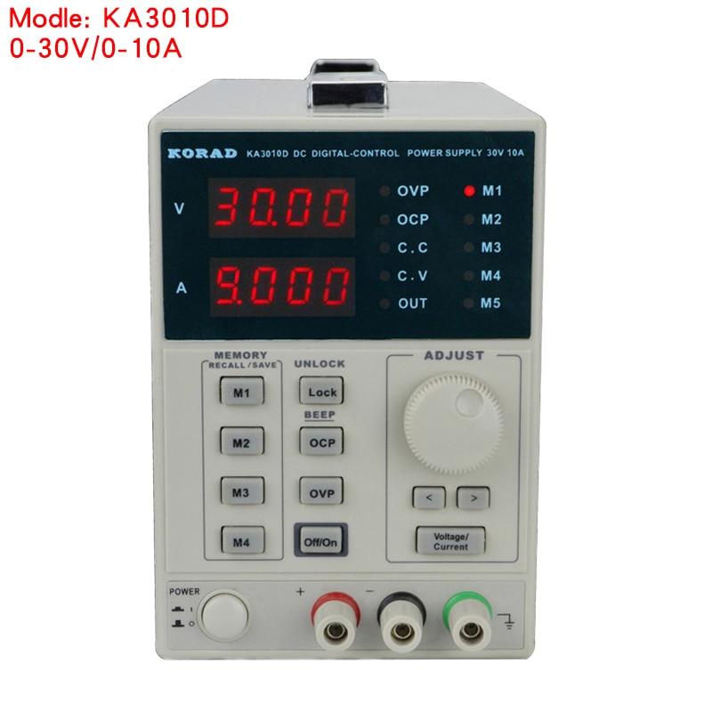 KORAD KA3010D 0-30 V 0-10A Haute Précision Linéaire alimentation Réglable Numérique Réglementé Commande Numérique DC Alimentation