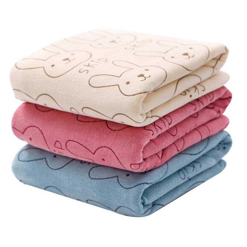 Children's Bath Comfortable And Fast Absorbent Printed Beach Towel Cute Animal Microfiber Soft Antibacterial Dry Bath Towel