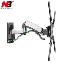Настенный держатель NB F500 для монитора, 50 60 дюймов, с газовой пружиной, эргономичное крепление, Максимальная нагрузка 14 23 кг, VESA 400*400 мм
