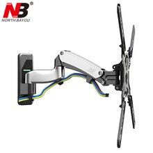 NB F500 ressort à gaz 50 60 pouces LED TV support de moniteur mural montage ergonomique chargement 14 23kgs Max.VESA 400*400mm