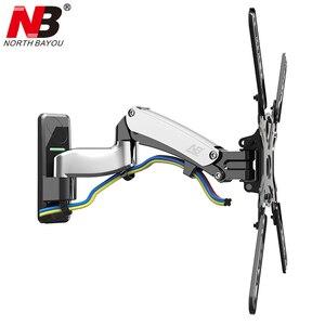 Image 1 - NB F500 sprężyna gazowa 50 60 cali telewizor LED uchwyt monitora ściennego ergonomiczny montaż ładowanie 14 23kg Max.VESA 400*400mm