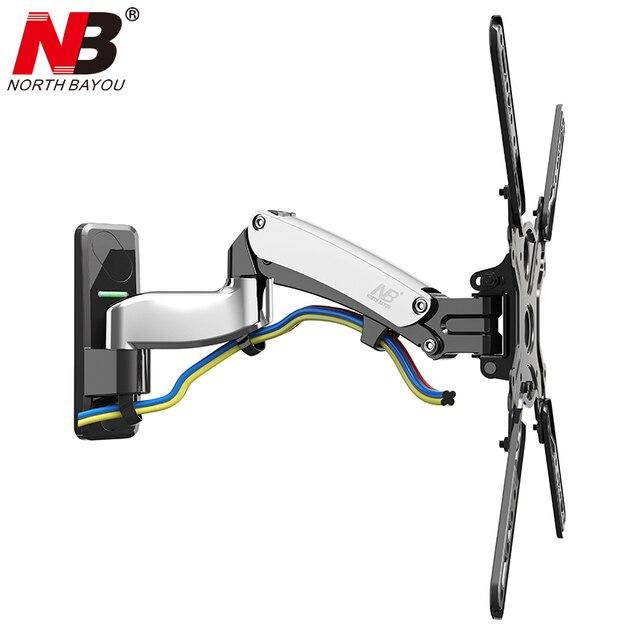 NB F500 sprężyna gazowa 50 60 cali telewizor LED uchwyt monitora ściennego ergonomiczny montaż ładowanie 14 23kg Max.VESA 400*400mm